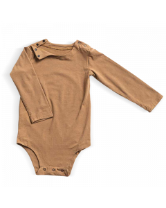 Long-sleeved bodysuit - Beige