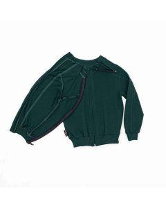 Bluza z rozpinanymi rękawami butelkowa zieleń