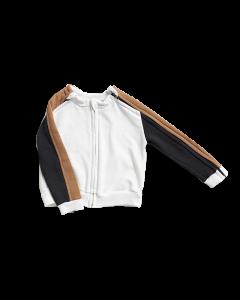 Bluza z rozpinanymi rękawami mix
