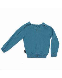 Bluza z rozpinanymi rękawami Niebieska