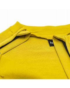 Bluza z rozpinanymi rękawami Złota oliwka
