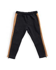 Spodnie z zamkami do kolan Grafitowe