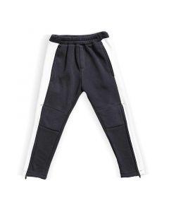 Spodnie z zamkami do kolan Grafitowo białe