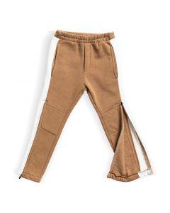 Spodnie z zamkami do kolan  Beżowo białe