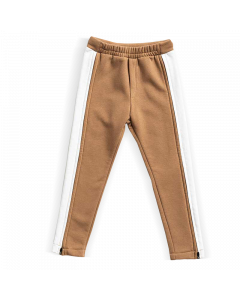 Spodnie z zamkami do pasa Beżowe